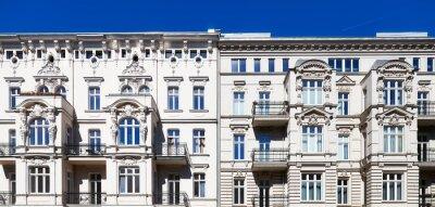 Newly renovated old tenement houses on Slaska Street in Szczecin, Poland.