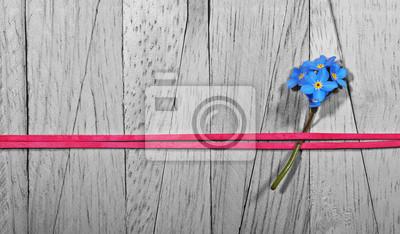 Obraz Nie Zapomnij Mnie Flower Ustalone Z Czerwoną