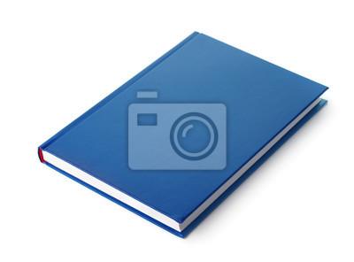 Obraz Niebieska książka w twardej oprawie