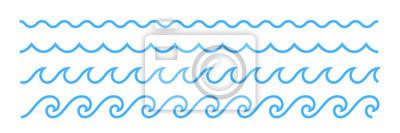 Obraz Niebieska linia fal oceanicznych ornament