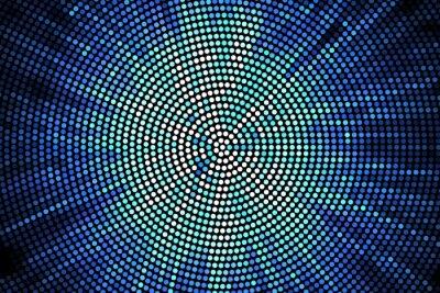Obraz niebieski błysk geometryczna