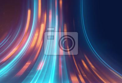 Obraz niebieski geometryczny kształt streszczenie technologia tło