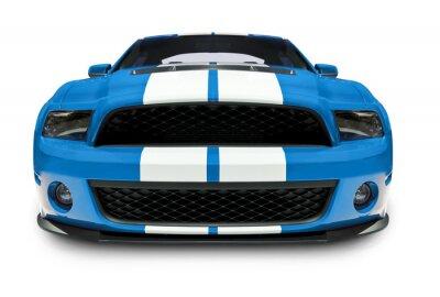 Obraz Niebieski Muscle Car