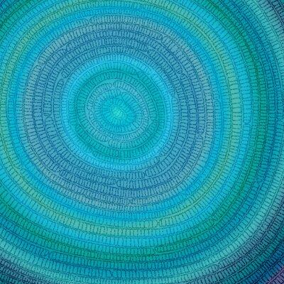 Obraz Niebieski wzór w kształcie koła.