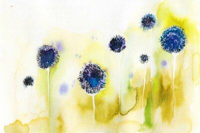 Obraz niebieskie kwiaty