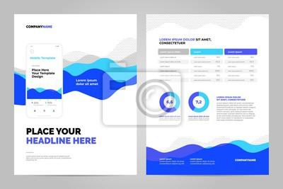Niebieskie tło abstrakcyjne dla dokumentów biznesowych, ulotki i plakaty. Technologie mobilne, aplikacje i usługi online plansza koncepcja.