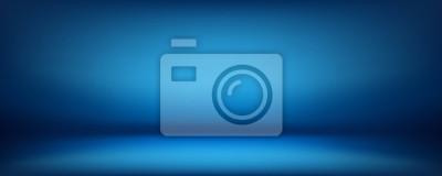 Obraz niebieskie tło, pokój studio abstrakcyjne ściany, może być używany do prezentacji produktu