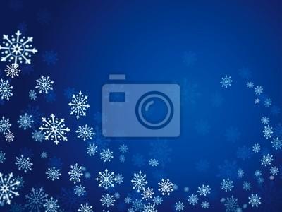 niebieskie tło z płatki śniegu fali