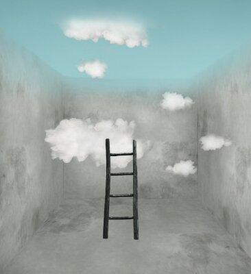 Obraz Niebo i chmury w pokoju