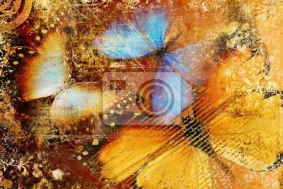 niechlujny motyle - artystyczny clip -art