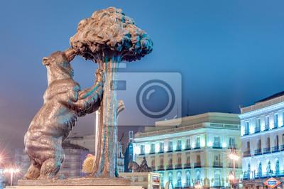 Niedźwiedź i Truskawka Drzewo Statua w Madrycie, Hiszpania.