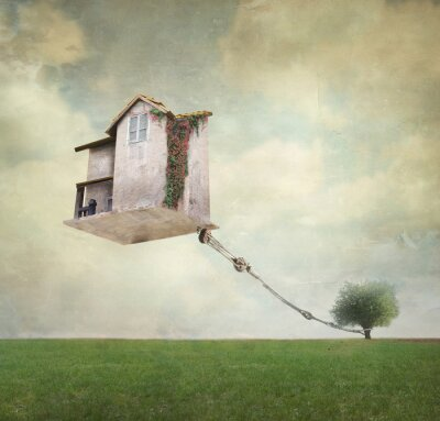 Obraz Nierealne dom