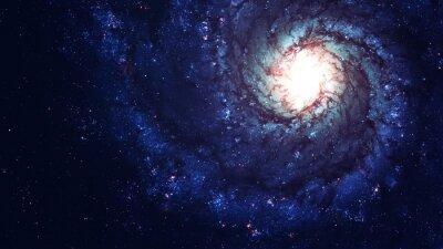 Obraz Niesamowite galaktyka spiralna wiele lat świetlnych daleko od Ziemi. Elementy dostarczone przez NASA
