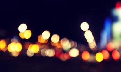 Niewyraźne miejskiego abstrakcyjne tło, miasto i sygnalizacja świetlna