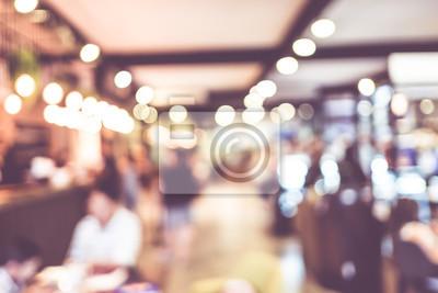 Obraz Niewyraźne tło: Klient w kawiarni rozmycie tła z bokeh