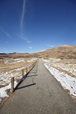 Niezależność przełęczy chodnik, Continental Divide w Colorado, USA.