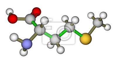 Niezbędny aminokwas metioninę struktura molekularna