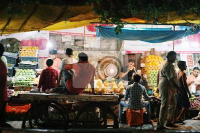 Obraz Night market in Delhi India