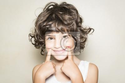 Obraz Niña Mostrando Sonrisa