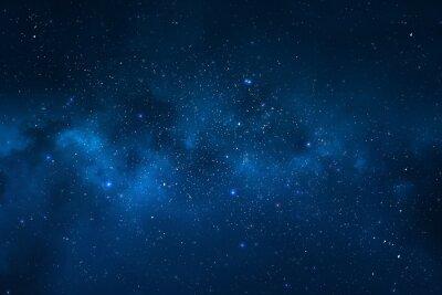 Obraz Nocne niebo - Wszechświat pełen gwiazd, mgławic i galaktyki