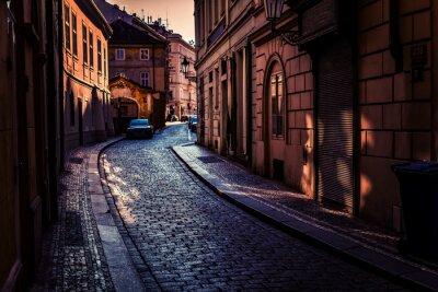 Obraz Nocne ulice Pragi.
