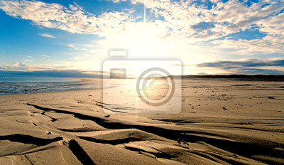 Obraz Nordsee, Strand auf Langenoog: Dünen, Meer, Ebbe, Watt, Wanderung, Entspannung, Ruhe, Erholung, Ferien, Urlaub, Medytacja :)