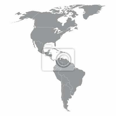 Obraz North and South America map