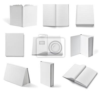 Obraz notebook podręcznik książka white paper pusty szablon