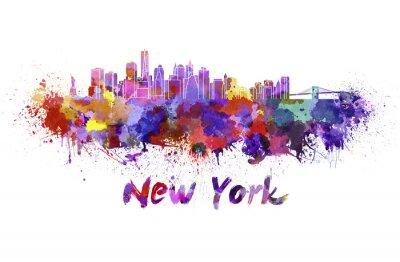 Obraz Nowego Jorku w akwareli
