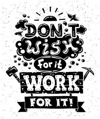 Obraz Nowoczesna płaska hipster ilustracji z cytatem frazy Czy nie