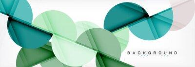 Obraz Nowoczesne geometryczne abstrakcyjne tło - koła. Szablon projektu prezentacji biznesowych lub technologii, wzór broszury lub ulotki lub geometryczny baner internetowy