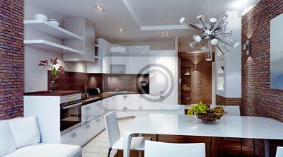 Nowoczesne Wnętrza Kuchni Obrazy Redro