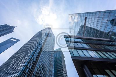 Obraz nowoczesny biurowiec w mieście
