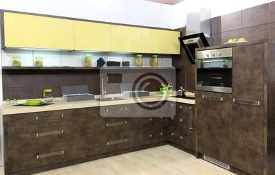 nowoczesny brązowy kuchnia