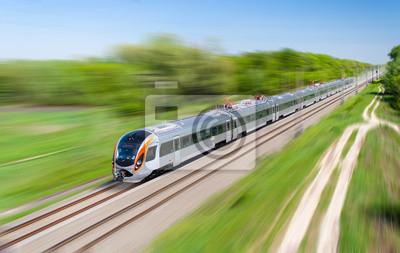 Nowoczesny hi-prędkość pociągu pasażerskiego na Ukrainie