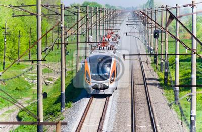 Nowoczesny pociąg pospieszny na Ukrainie