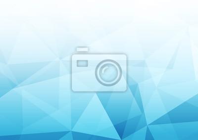 Obraz Nowożytny abstrakcjonistyczny błękitny przejrzysty kryształu wzoru tła szablon
