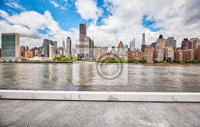 Nowy Jork linia horyzontu widzieć widok od Roosevelt wyspy, usa.