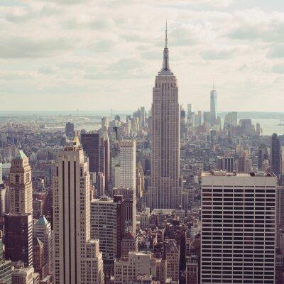 Obraz Nowy Jork, Manhattan skyline lotnicze widok z Empire State Building