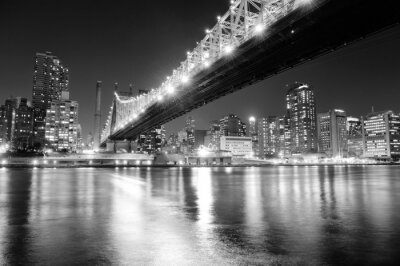 Nowy Jork noc panorama