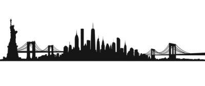 Obraz Nowy Jork Skyline Vector czarno-białe