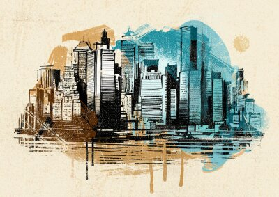 Obraz Nowy Jork stylu vintage