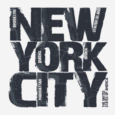 Obraz Nowy Jork Typografia Projektowanie