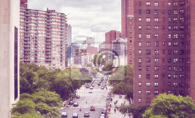 Nowy Jork, vintage stonowanych obraz, Stany Zjednoczone Ameryki