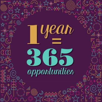 Obraz Nowy rok plakat projekt inspiracją cytat