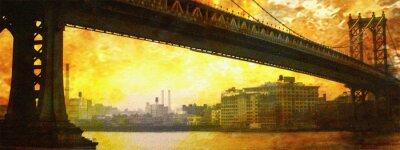 Obraz NYC Most Malowanie