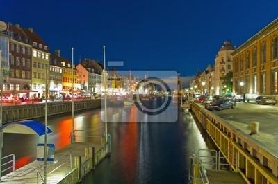 Nyhavn kolorowe budynki w Kopenhadze