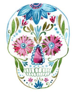 Obraz czaszki cukru