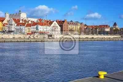 Obraz nabrzeżu miasta Szczecin, Polska.