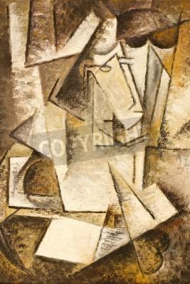 Obraz obraz olejny abstrakcyjne kubizm